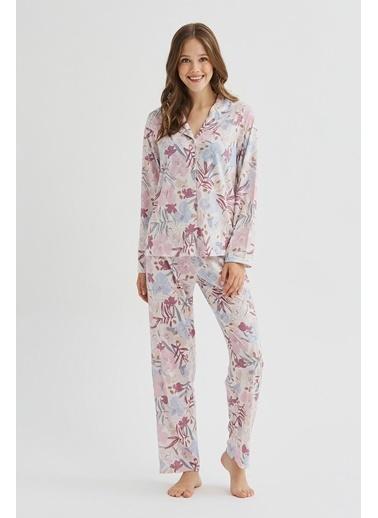 Penti Giant Floral Pijama Takımı Renkli